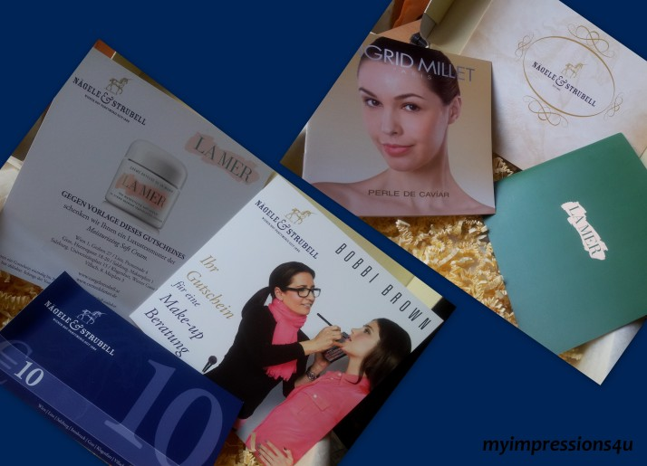 Beautesse Beauty Box - Gutscheine + Broschüren