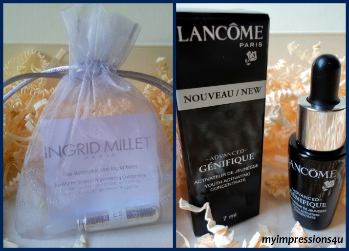 Ingrid Millet Ampulle + Lancome Advanced Genifique
