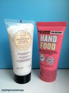 Perlier Körperpeeling + Soap & Glory Hand Food