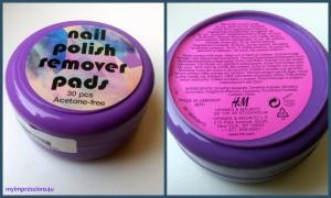 nail polish remover pads - Verpackung