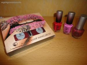 Fengshangmei Caviar Manicure Kit + LM Nagellacke