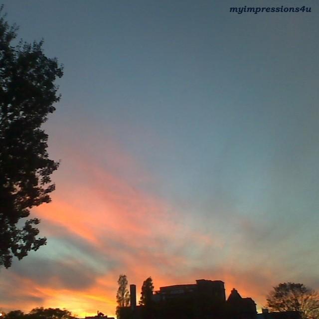 Sonnenuntergang Oktober Wien