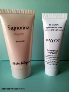 Salvatore Ferragamo Signorina Body Lotion + Payot Gommage Amande Bodypeeling