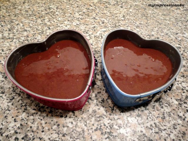 Schoko-Herzkuchen - Masse
