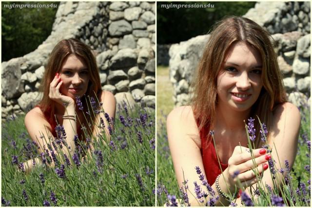 Outfitpost im Lavendelmeer