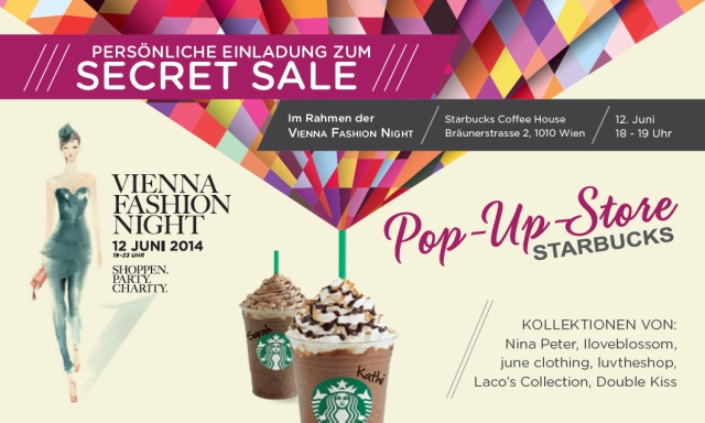 Starbucks Secret Sale - Vienna Fashion Night