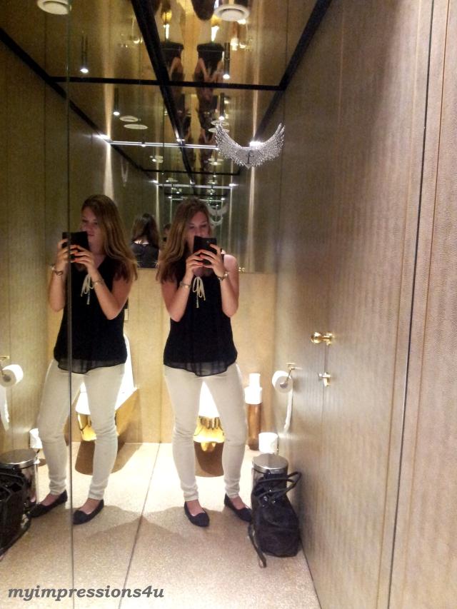 Toilette im Fashon Tv Cafe
