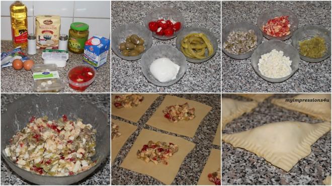 Antipasti-Taschen mit Mozzarella & Co - Zubereitung in Bildern
