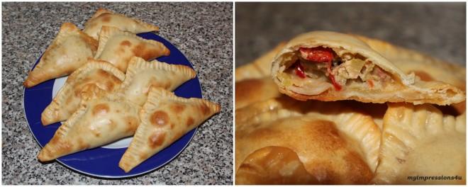 Antipasti-Taschen mit Mozzarella & Co