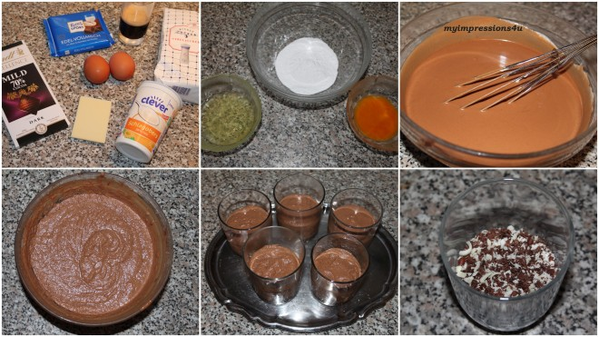 Espresso – Mousse au chocolat - Zubereitung in Bildern