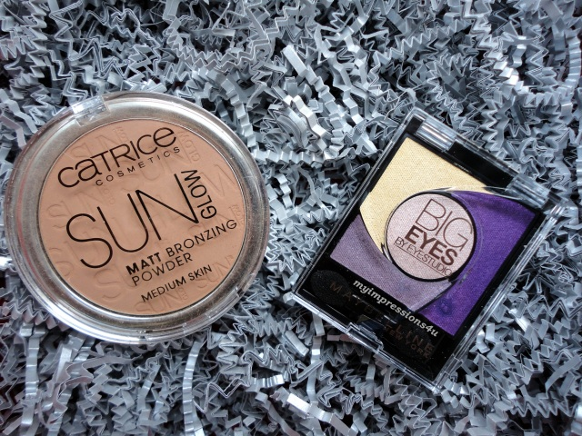 Matt Bronzing Powder Sun Glow Catrice + Maybelline Eyestudio Big Eyes Eyeshadow