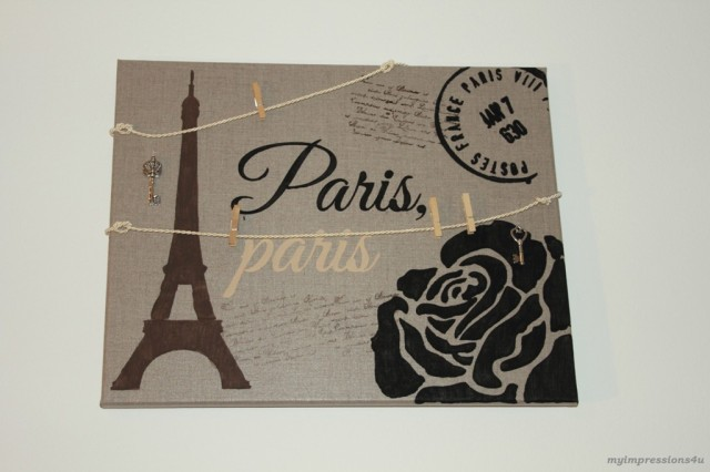 DIY Paris Pinnwand mit Kordel_myimpressions4u