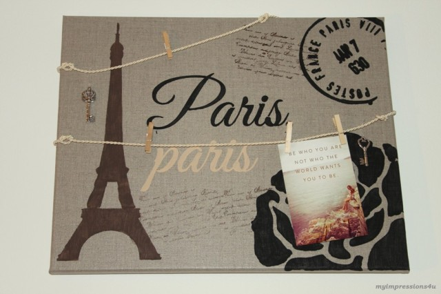 DIY - Paris Pinnwand_myimpressions4u