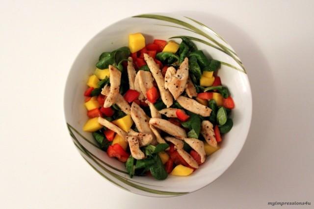 Mango Vogerlsalat mit Hühnerbrustfilet_myimpressions4u
