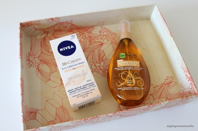 DM Schönheits-Box_Nivea BB Cream & Garnier Schöne Haut Öl_Mai 2015_myimpressions4u