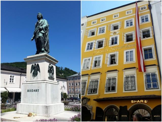 Mozart Statue und Mozart Geburtshaus_Salzburg_myimpressions4u