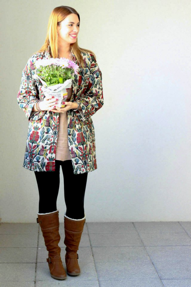 zara coat fresh flowers primark blouse black pants austrian blogger_ -