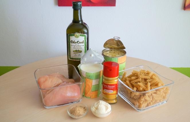 Nudelsalat Ananas Curry Huhn_Zutaten_myimpressions4u